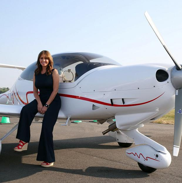 Carol Vorderman made her first solo flight live on TV