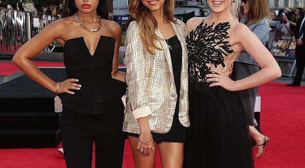 Perrie Edwards was joined by Little Mix bandmates Leigh-Anne Pinnock and Jade Thirwall at teh 1D film premiere