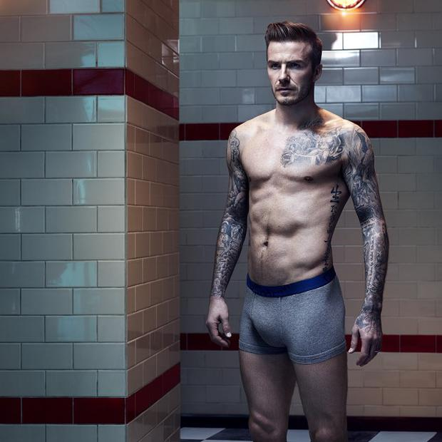 David Beckham showed off his toned physique for his latest ad campaign