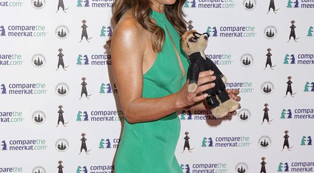 Elizabeth Hurley during a launch event for comparethemarket.com's latest character