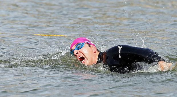 David Walliams swims in the British Gas SwimBritain open water event at Blenheim Palace in Woodstock, Oxfordshire