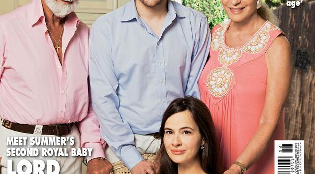 Sophie Winkleman said she hopes her new baby girl can meet Prince George at Christmas