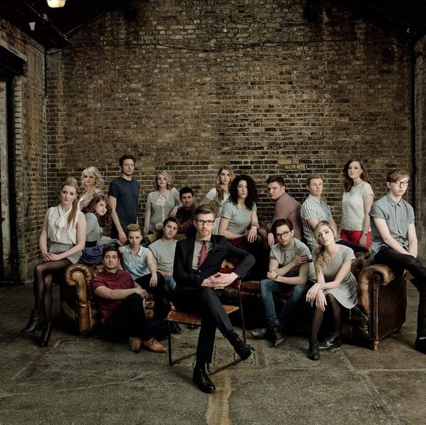 Gareth Malone with his new choir