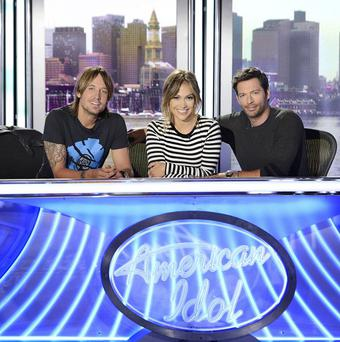 Keith Urban, Jennifer Lopez and Harry Connick Jr prepare for American Idol XIII (AP/Copyright Fox, Michael Becker)