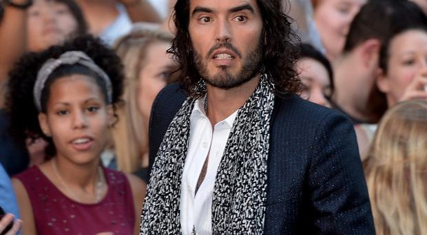 Russell Brand at the GQ Men of the Year Awards - before he was apparently thrown out