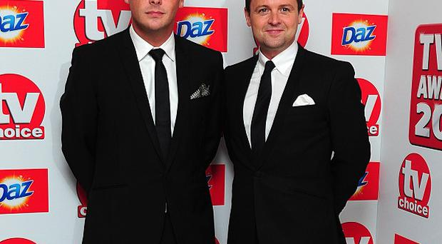 Anthony McPartlin and Declan Donnelly arriving for the 2013 TV Choice awards