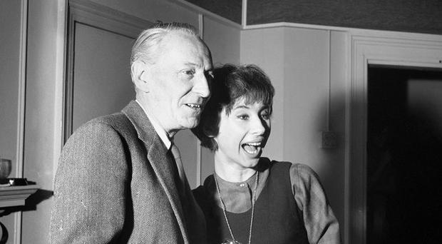 William Hartnell, who played the original Doctor, and actress Carole Ann Ford