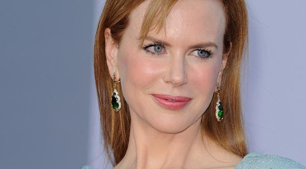 Nicole Kidman was knocked down by a cyclist on a city pavement