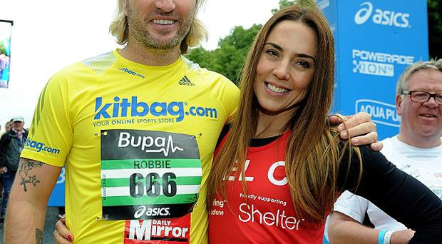 Robbie Savage and Mel C took part in the 2013 Great North Run