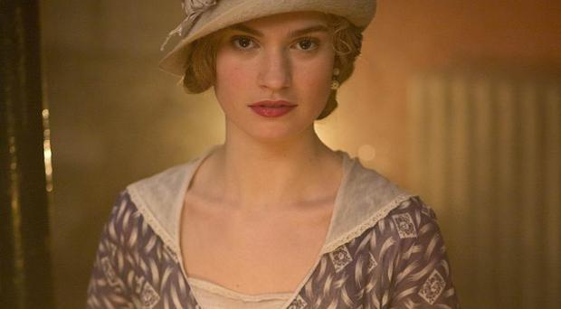 Lily James plays mischievous Lady Rose in Downton Abbey