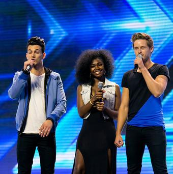 Dynamix during the auditions for The X Factor.