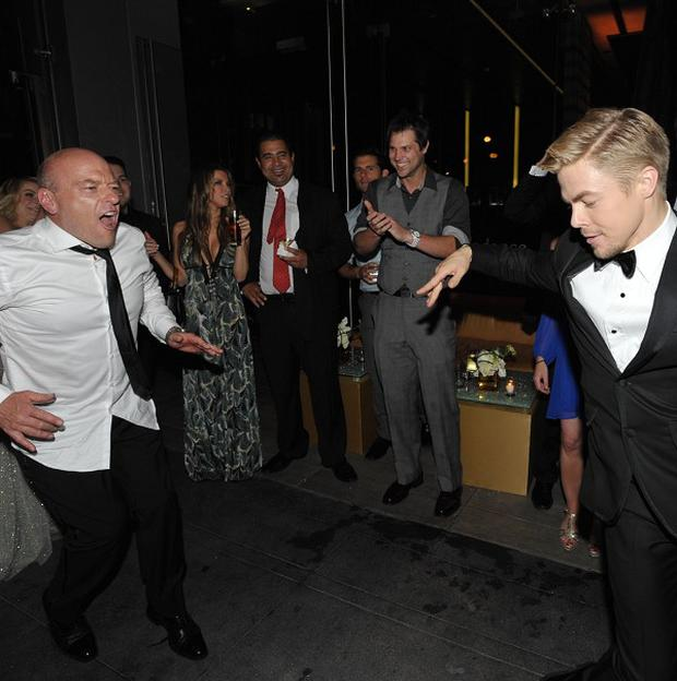 Dean Norris and Derek Hough had a post-Emmys dance-off