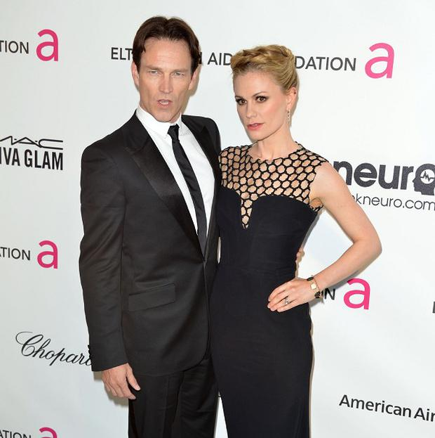 Stephen Moyer and Anna Paquin are used to getting dressed up for red carpets