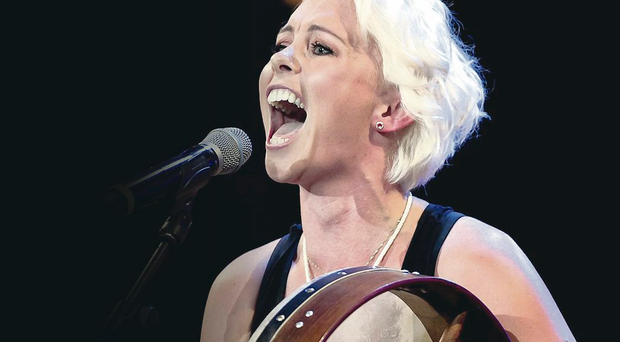 Andrea Magee brought out her bodhran to impress judges