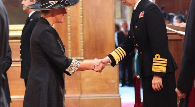 Clare Balding was made an OBE by Princess Anne at Windsor Castle