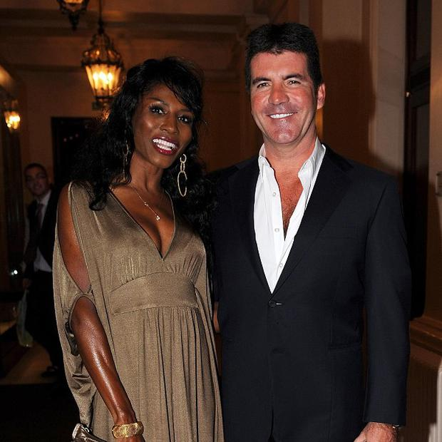 Simon Cowell with Sinitta