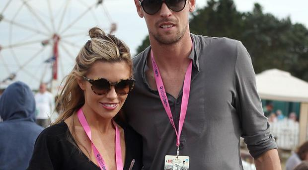 Abbey Clancy's husband Peter Crouch joined her for Strictly Come Dancing training