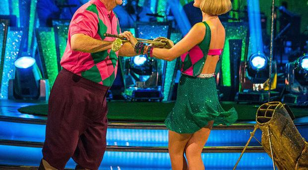 Aliona Vilani and Tony Jacklin perform during rehearsals for Strictly Come Dancing (BBC/PA)