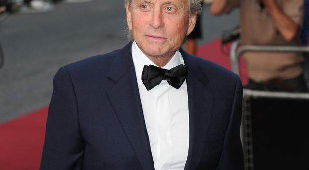 Michael Douglas said he was hopeful of working through his marriage problems