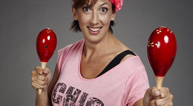 Miranda Hart who is releasing a comedy and fitness DVD