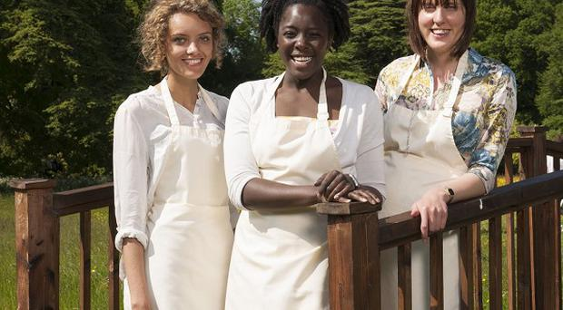 Ruby Tandoh, Kimberley Wilson and Frances Quinn are in The Great British Bake Off final