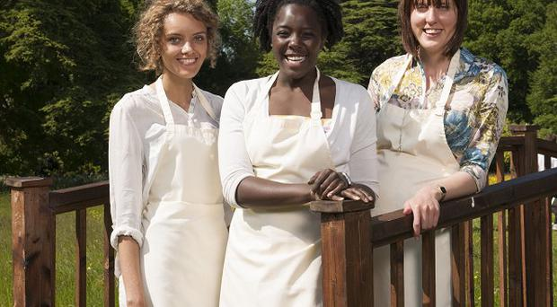 The Great British Bake Off finalist Ruby Tandoh (far left) has been branded a crybaby
