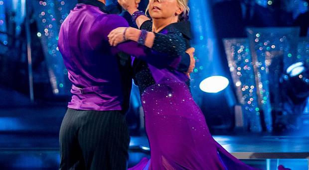 Deborah Meaden and Robin Windsor perform during Strictly Come Dancing (BBC/PA)