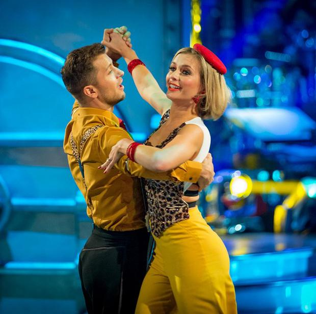 Rachel Riley lost in the dance-off to model Abbey Clancy