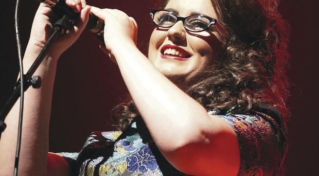 Andrea Begley performing at the Ulster Hall in Belfast