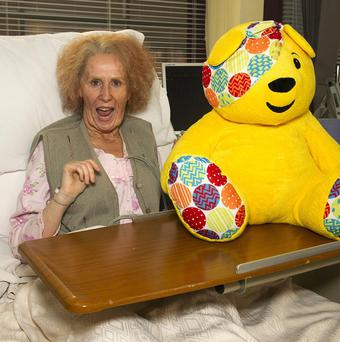 Catherine Tate's Nan character on the wards of Holby City for a one-off sketch for Children In Need