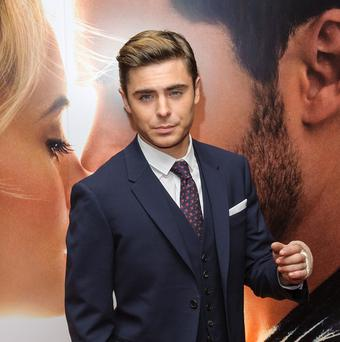 Zac Efron hurt his jaw in a fall