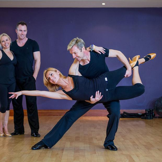 Jayne Torvill, James Jordan, Aliona Vilani and Christopher Dean in rehearsal ahead of a Children In Need Strictly Come Dancing special (BBC/PA)