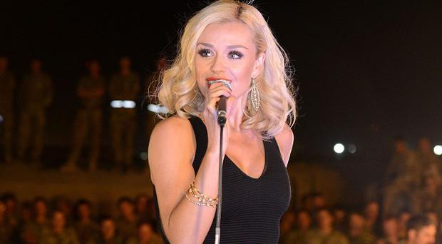 Katherine Jenkins performed for the troops in Afghanistan