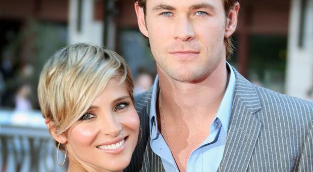 Chris Hemsworth and his wife Elsa Pataky are expecting their second baby (AP)