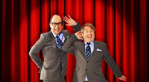 Jonty Stephens (left) and Ian Ashpitel (right) play Eric Morecambe and Ernie Wise in the Eric And Little Ern stage show