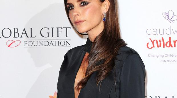 Victoria Beckham has urged people to donate their unwanted clothes to help typhoon victims