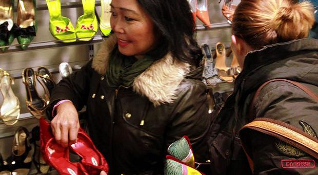 Shoppers were quick to snap up the shoes and clothes donated by David and Victoria Beckham