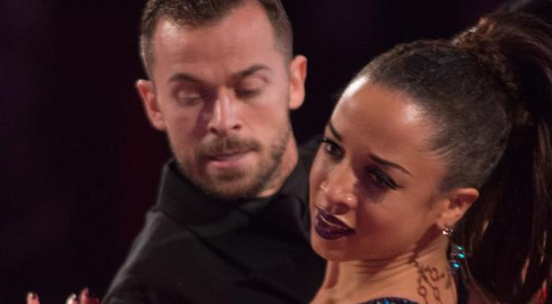 Natalie Gumede and Artem Chigvintsev's tango got a perfect 10 from Bruno Tonioli.