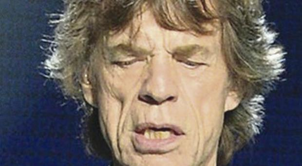 Delighted: Mick Jagger
