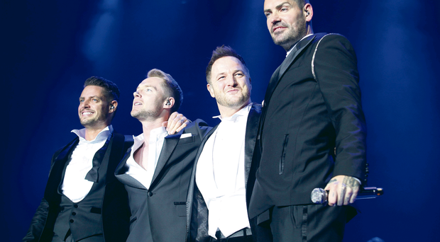 Boyzone last night in Belfast