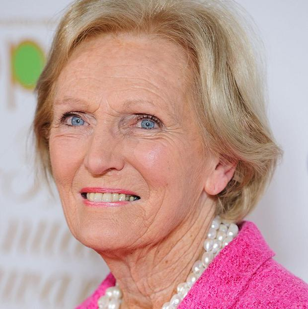 Mary Berry, 78, was presented with the Rose Gray Food Pioneer Award for her culinary skills and her career in broadcasting