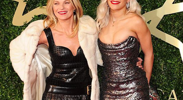 Kate Moss and Rita Ora attended the 2013 British Fashion Awards