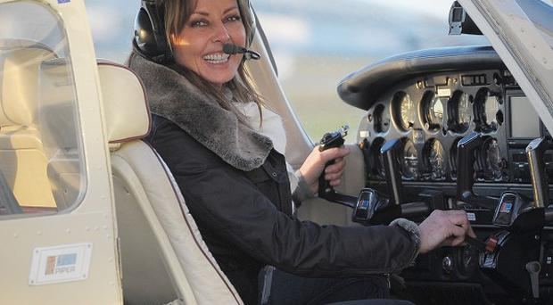 Carol Vorderman has passed her flying test