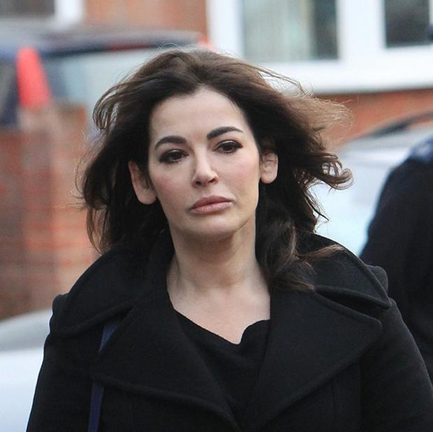 TV cook Nigella Lawson arriving for the second day at Isleworth Crown Court