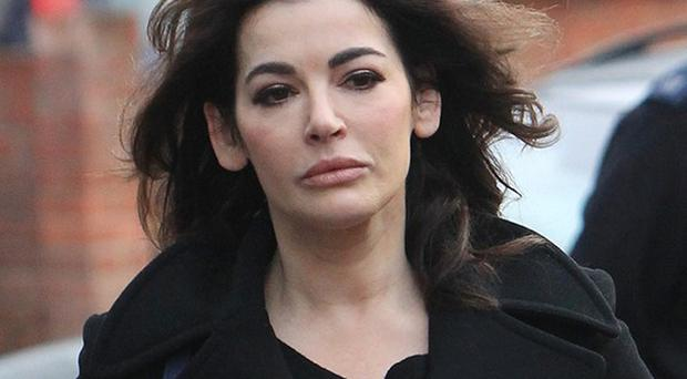 Nigella Lawson is giving evidence in the trial of her former personal assistants