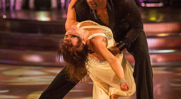 Anya Garnis and Patrick Robinson performing during rehearsals for the BBC programme Strictly Come Dancing