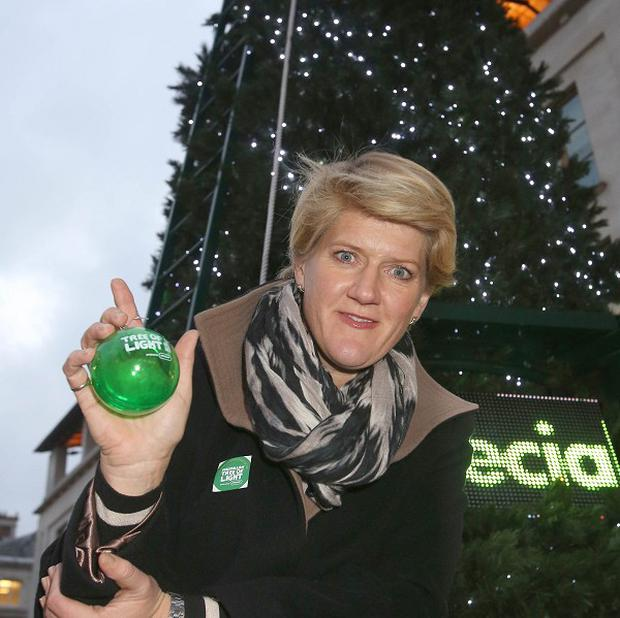 TV presenter Clare Balding unveiled the Macmillan Cancer Support's Christmas tree