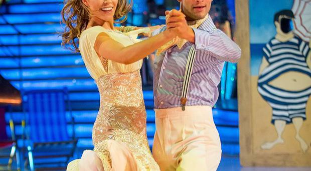 Abbey Clancy and dance partner Aljaz Skorjanec won Strictly Come Dancing