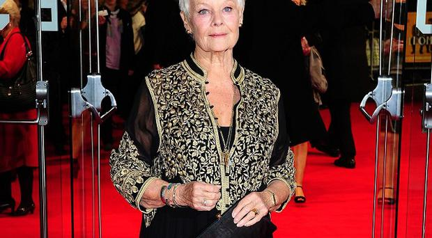 Dame Judi Dench played M in the James Bond movies
