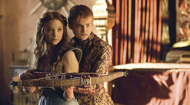 Royal match: Jack Gleeson, as King Joffrey Baratheon, and Natalie Dormer as his bride Margaery Tyrell